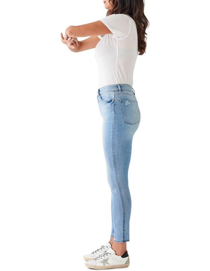 Farrow Crop Mid Rise Instasculpt Skinny Jeans image 3