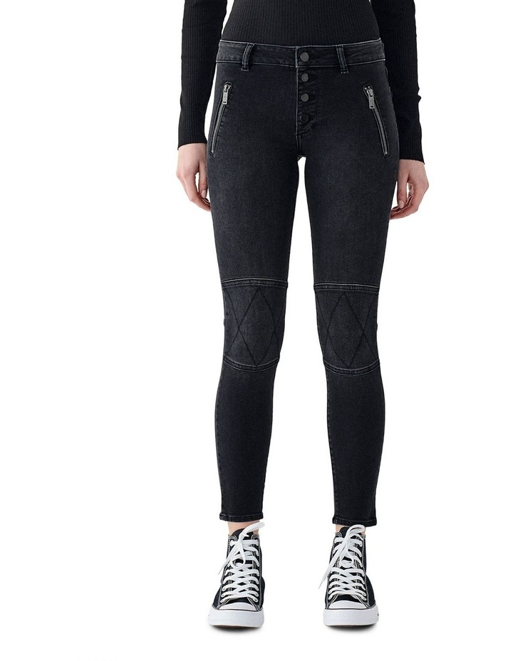 Florence Mid Rise Skinny Ankle Jeans image 1