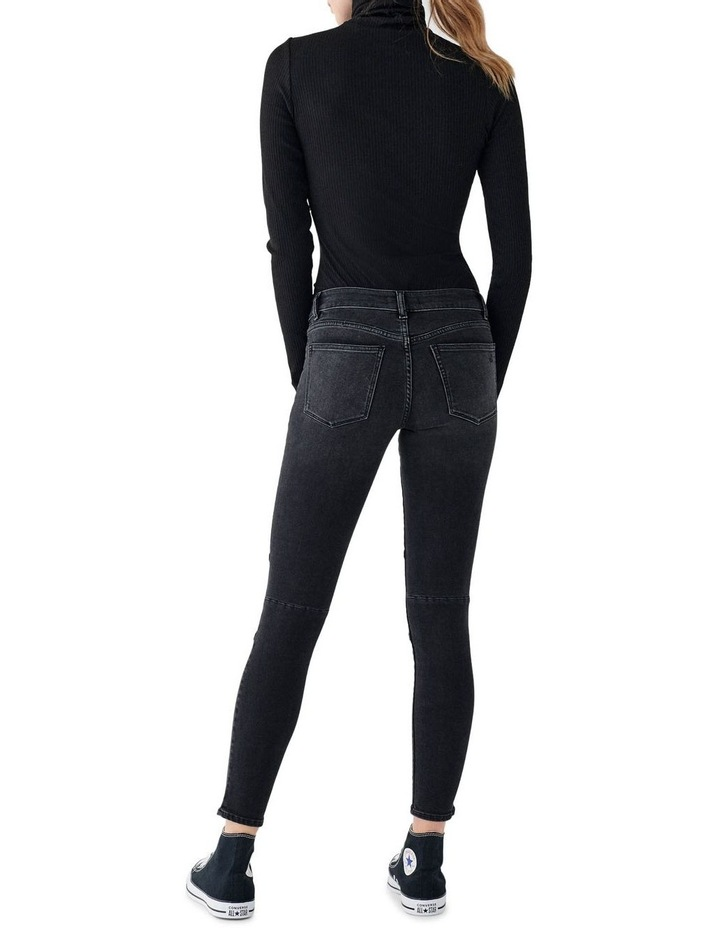 Florence Mid Rise Skinny Ankle Jeans image 3