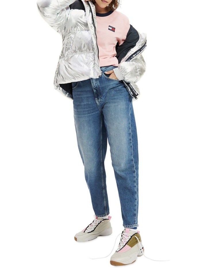 High Rise Tapered Mom Jeans image 1