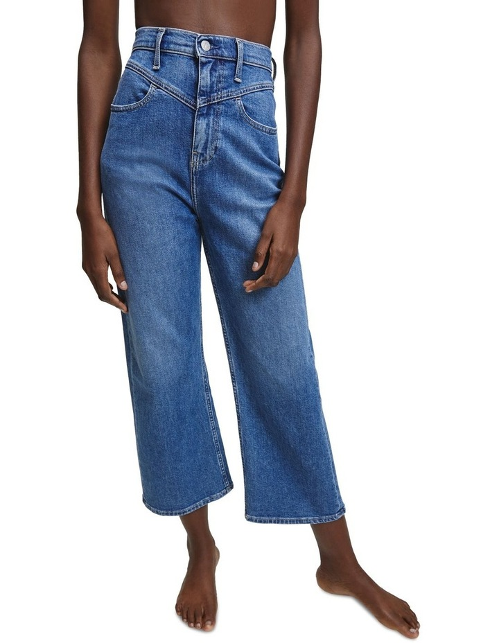 Super High Rise Wide Leg Crop Jean image 1