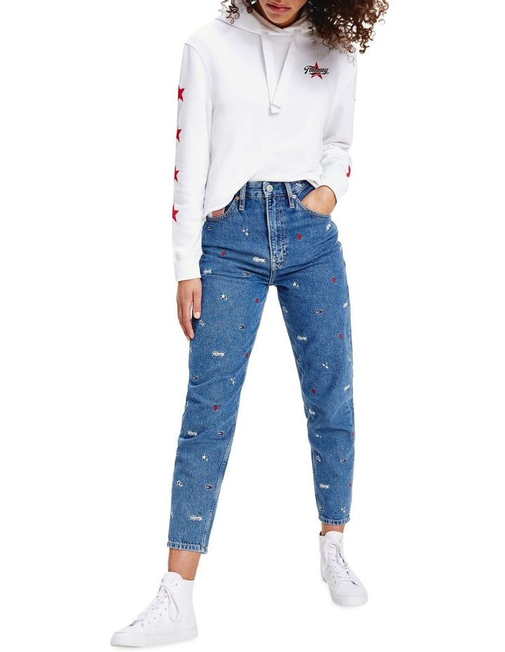 Recycled Embroidery High Rise Mom Jeans image 1