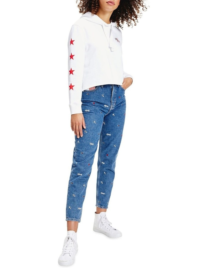 Recycled Embroidery High Rise Mom Jeans image 2