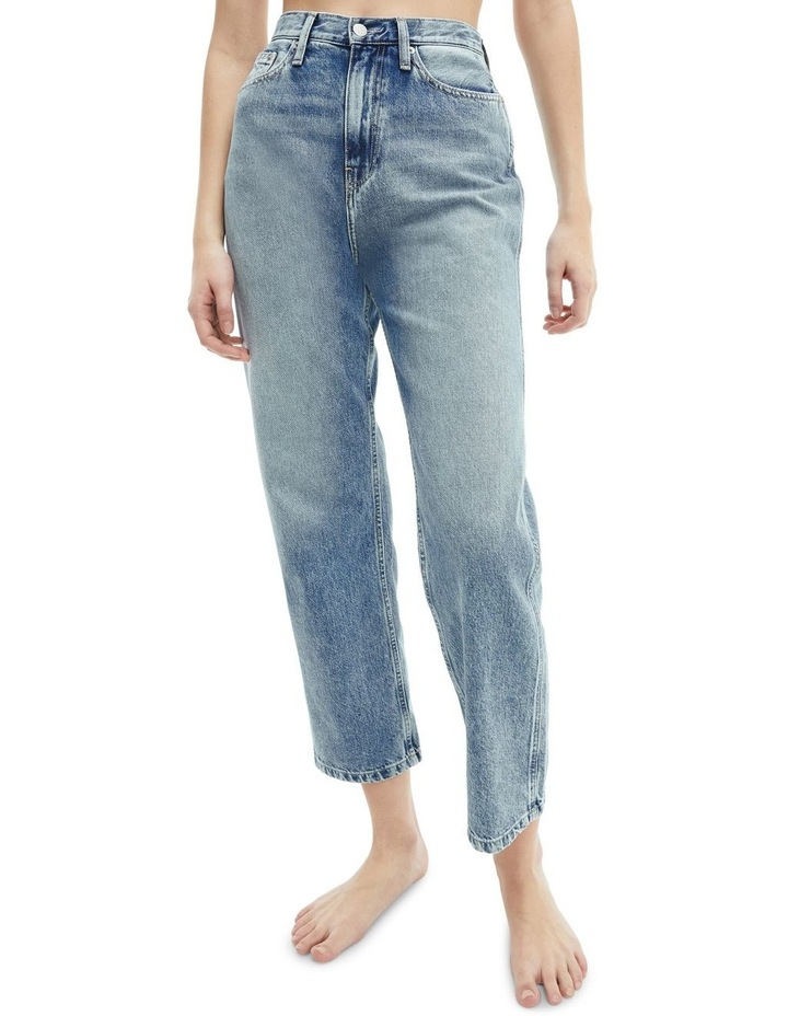 High Rise Straight Ankle Jean image 1