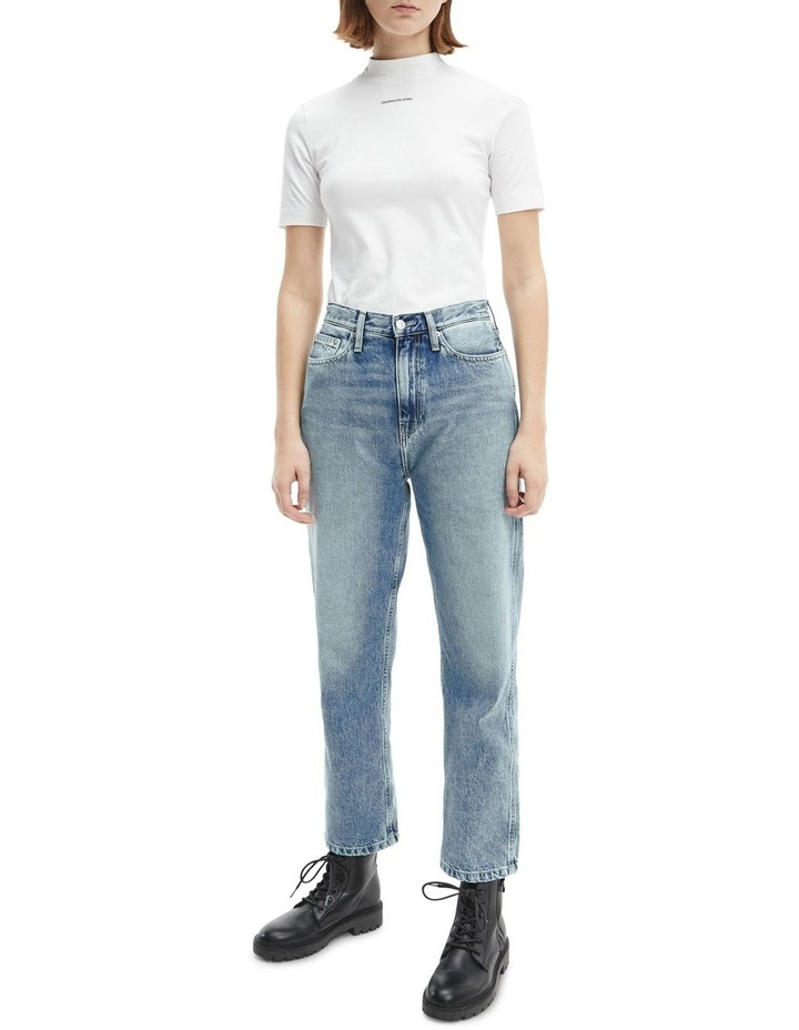 High Rise Straight Ankle Jean image 2