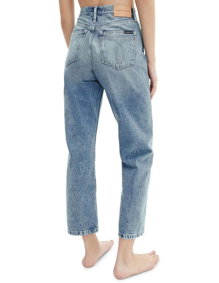 High Rise Straight Ankle Jean image 4