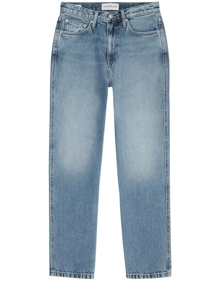 High Rise Straight Ankle Jean image 5