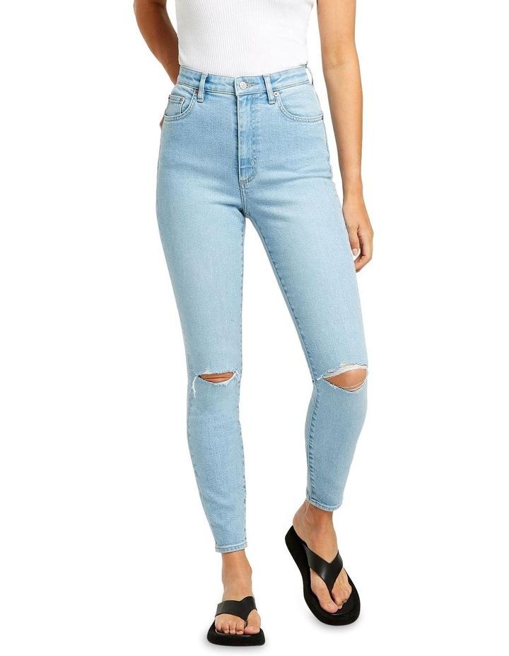 High Licks Crop Optimal Destruct Skinny Jean image 1