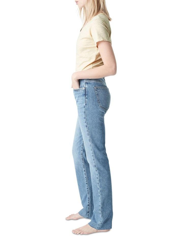 Veronica  High Rise Slim Straight Jeans image 3