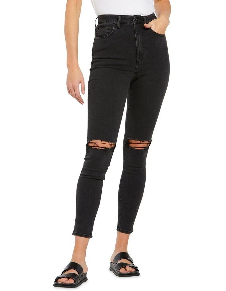 High Licks Crop Black Rukus Jeans image 1