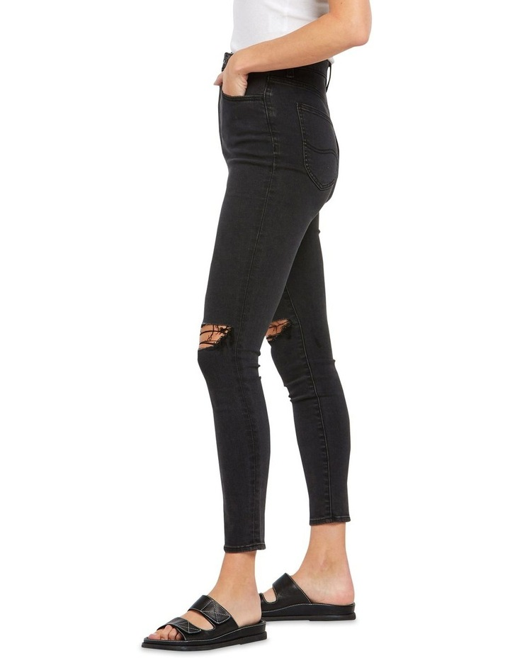 High Licks Crop Black Rukus Jeans image 4