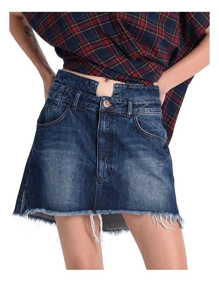 Lonestar Vanguard Mid Rise Relaxed Denim Mini Skirt image 4