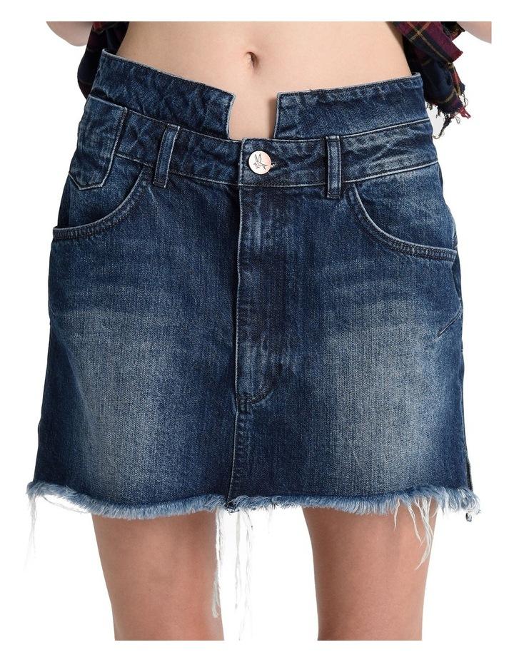 Lonestar Vanguard Mid Rise Relaxed Denim Mini Skirt image 5