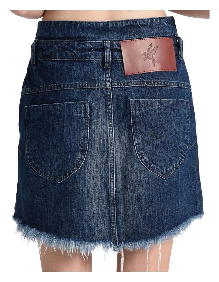 Lonestar Vanguard Mid Rise Relaxed Denim Mini Skirt image 6