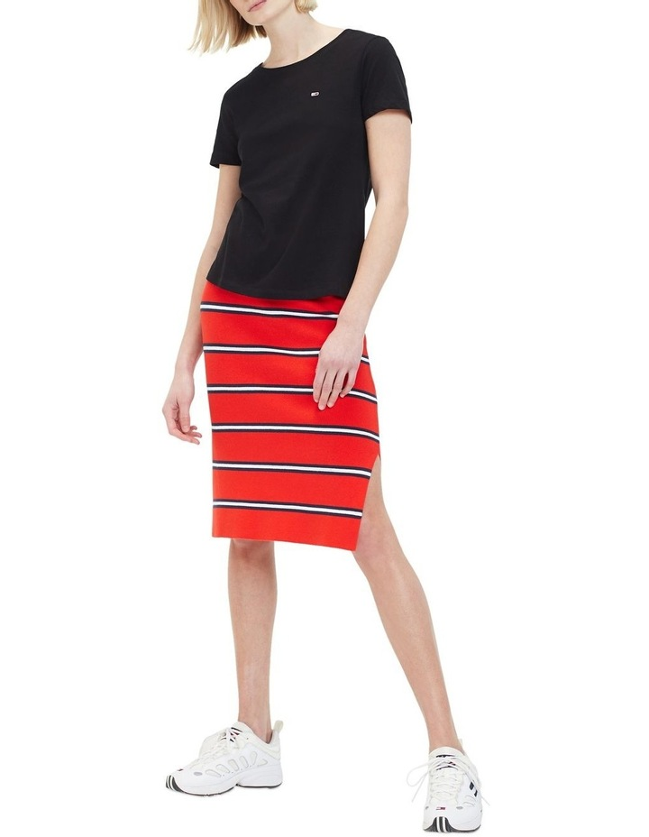 Knitted Stripe Pencil Skirt image 1