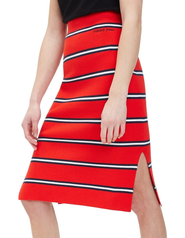 Knitted Stripe Pencil Skirt image 2