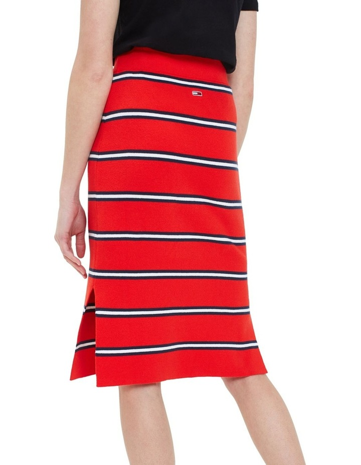 Knitted Stripe Pencil Skirt image 3