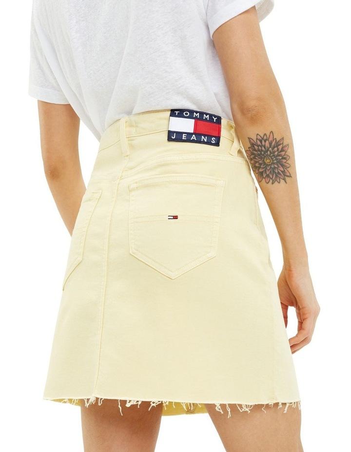 Raw Hem Stretch Denim Skirt image 3