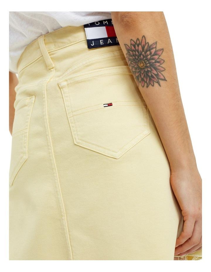 Raw Hem Stretch Denim Skirt image 4