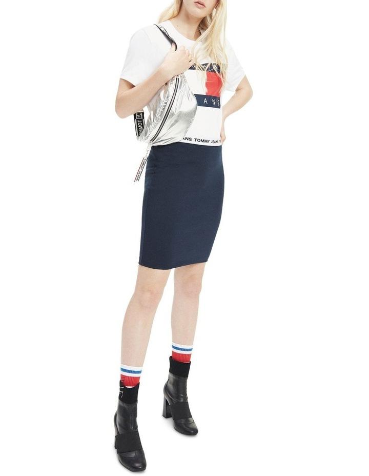 Contrast Waistband Bodycon Skirt image 1