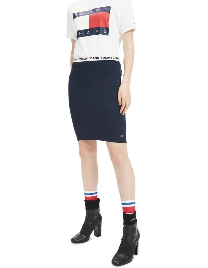 Contrast Waistband Bodycon Skirt image 2