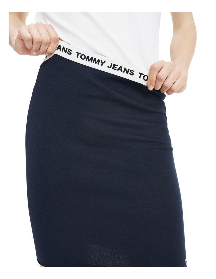 Contrast Waistband Bodycon Skirt image 3