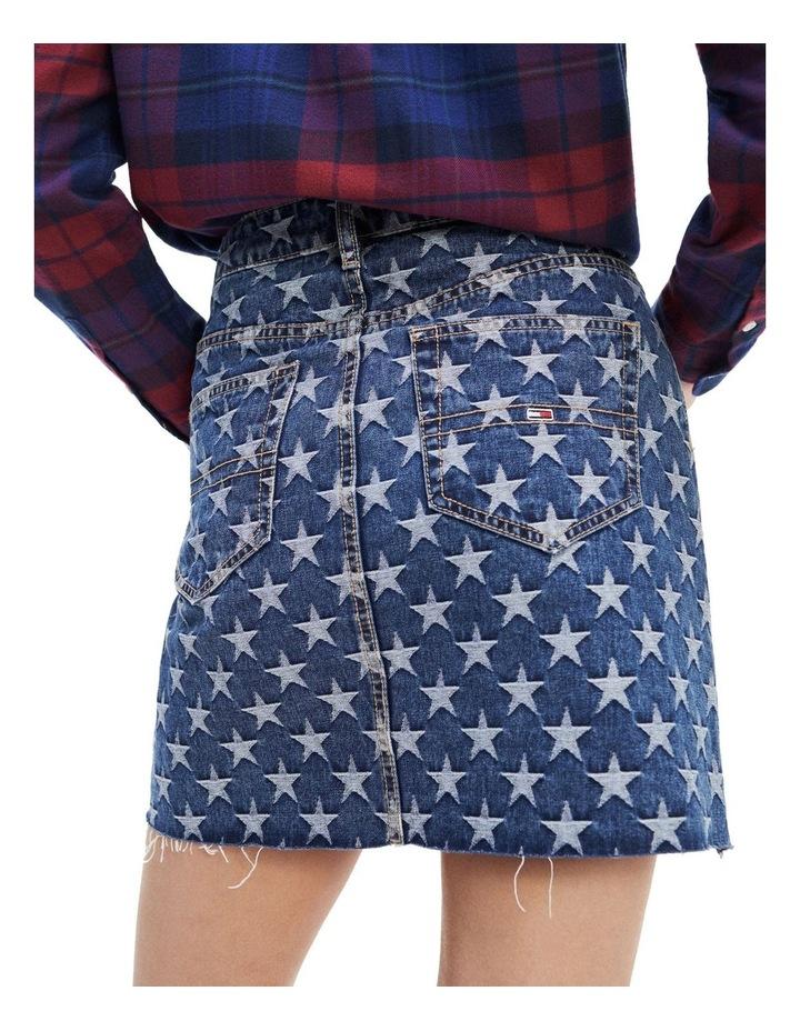 Star Pattern Short Denim Skirt image 2