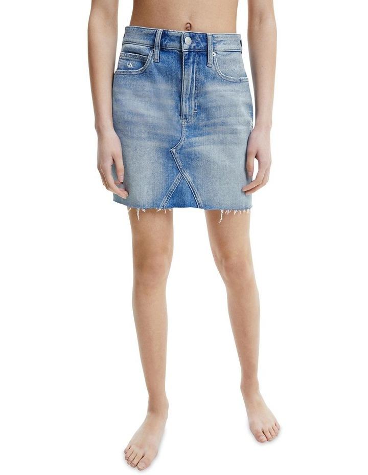 High Rise Mini Skirt Bleached Blue image 1