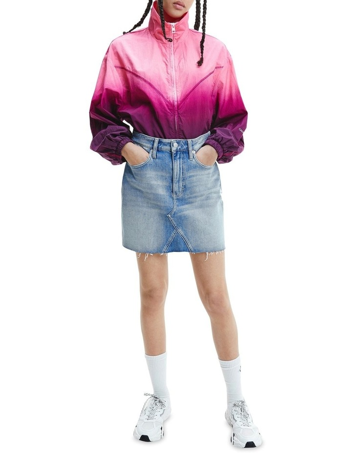 High Rise Mini Skirt Bleached Blue image 3