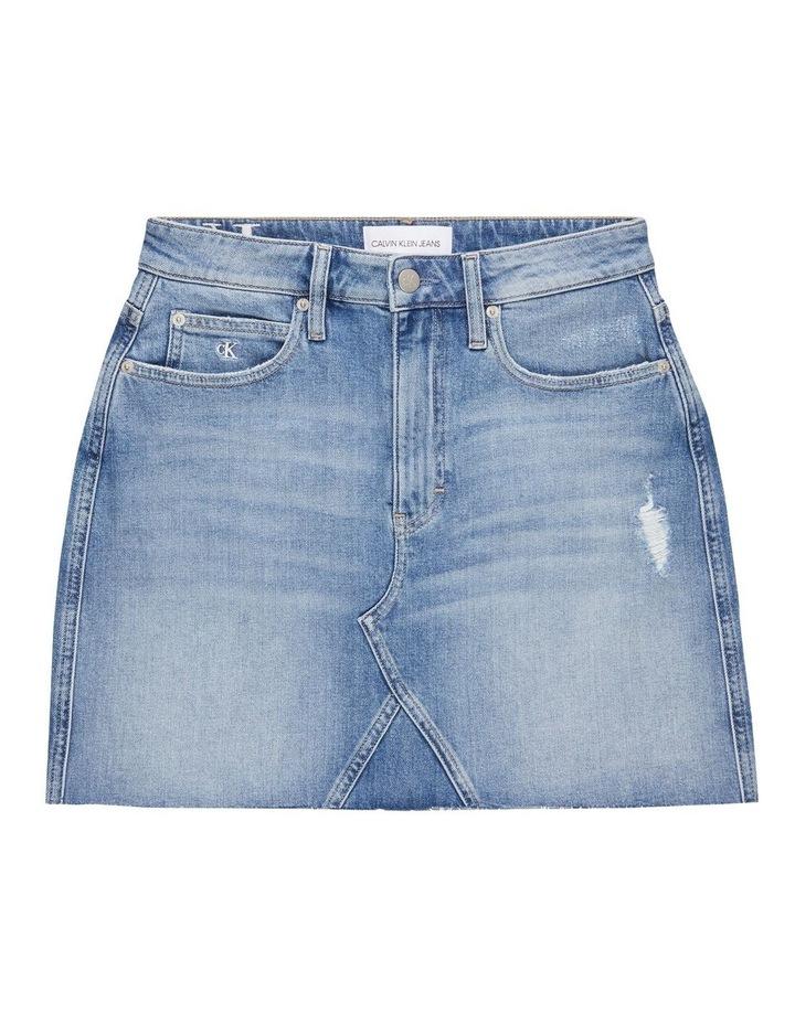 High Rise Mini Skirt Bleached Blue image 5