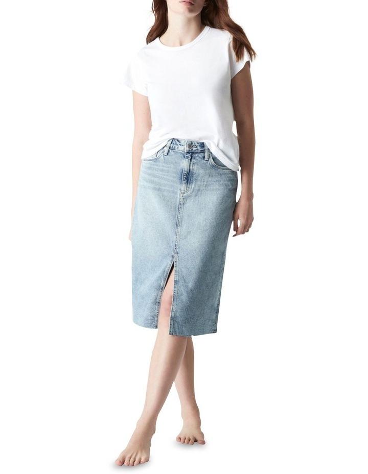 Megan Aline Denim Skirt Shaded Denim image 1