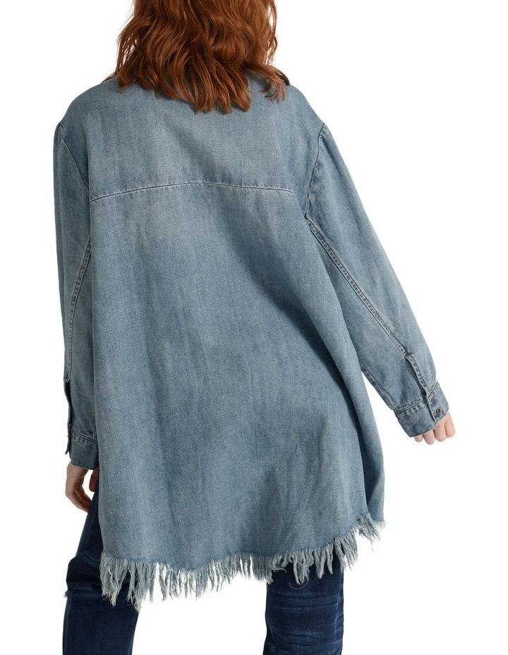 Zip Side Denim Shirt Dress image 3