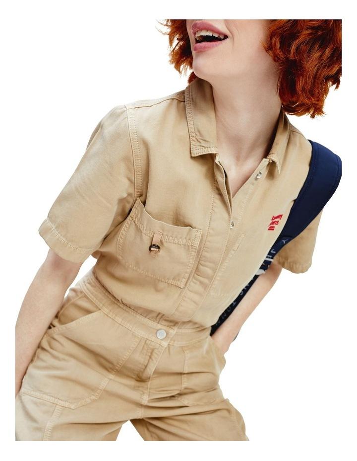 Short Sleeve Utility Jumpsuit image 1