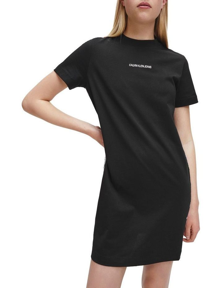 T-Shirt Dress With Mesh Tape image 1