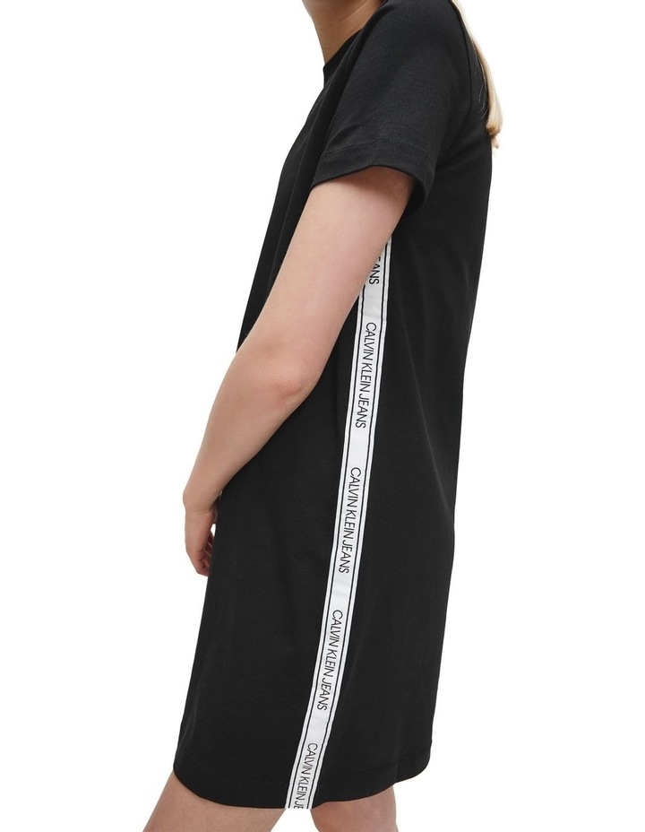 T-Shirt Dress With Mesh Tape image 3