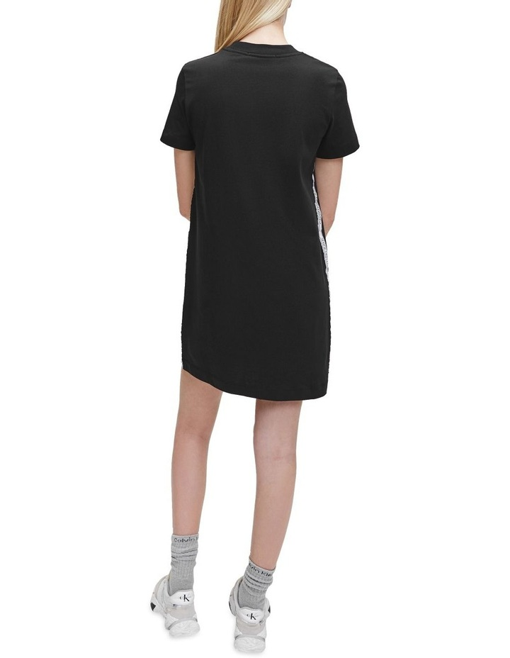 T-Shirt Dress With Mesh Tape image 5