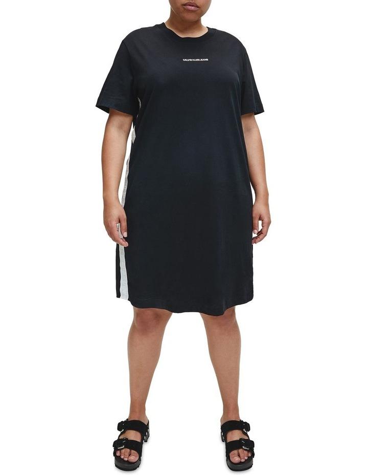 Plus Mesh Tape T-Shirt Dress image 1