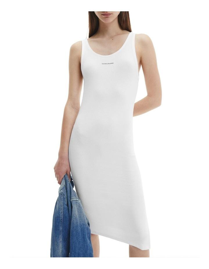 Micro Branding Cotton Bodycon Dress Bright White image 2