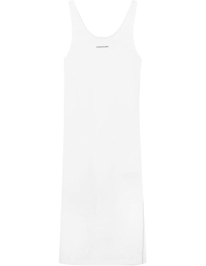 Micro Branding Cotton Bodycon Dress Bright White image 5