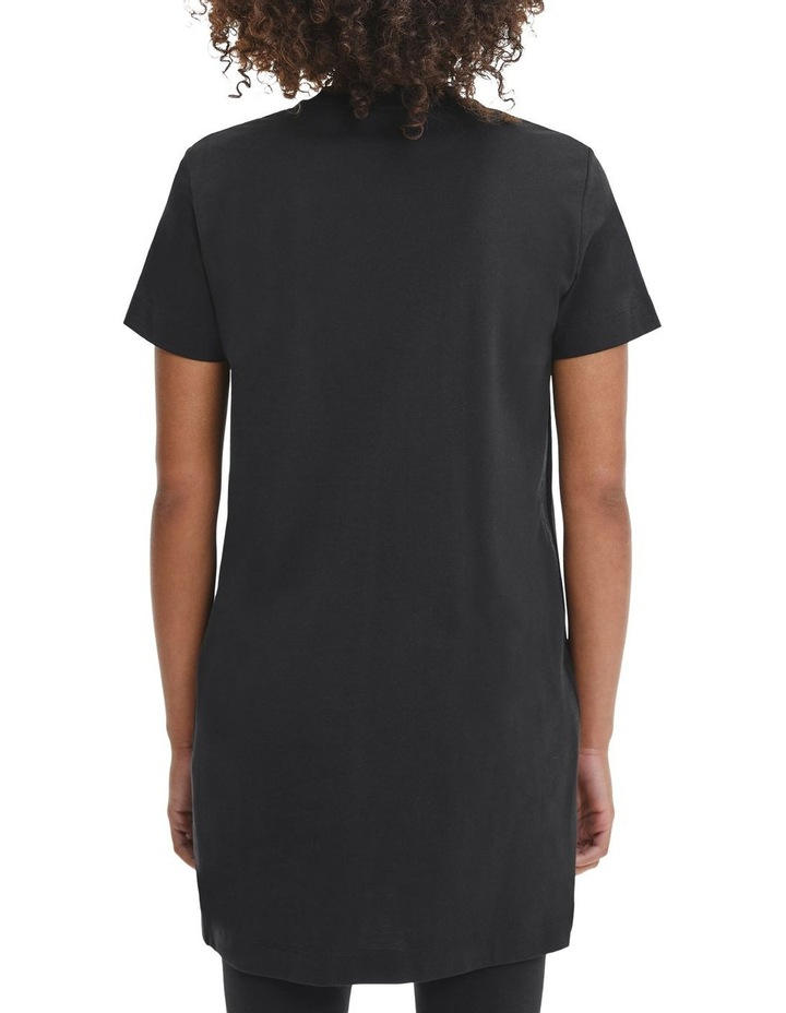 Logo Trim T-Shirt Dress Black image 2