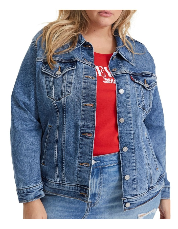 Plus Ex-Boyfriend Trucker Jacket image 1