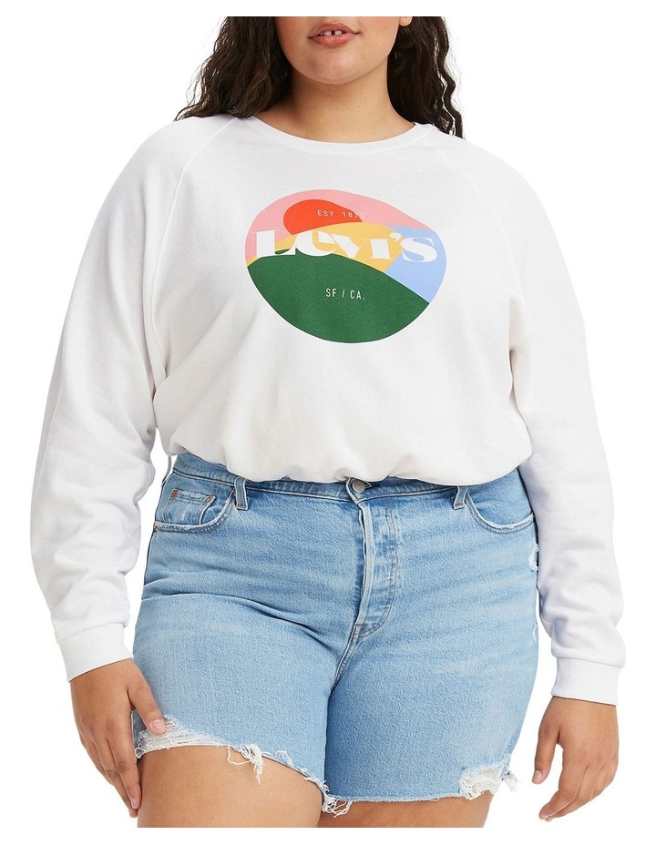 Plus Size Vintage Raglan Sweatshirt image 1