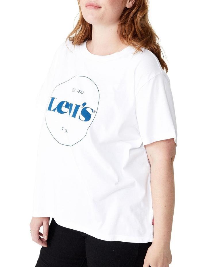 Curve Graphic Varsity T-Shirt image 1