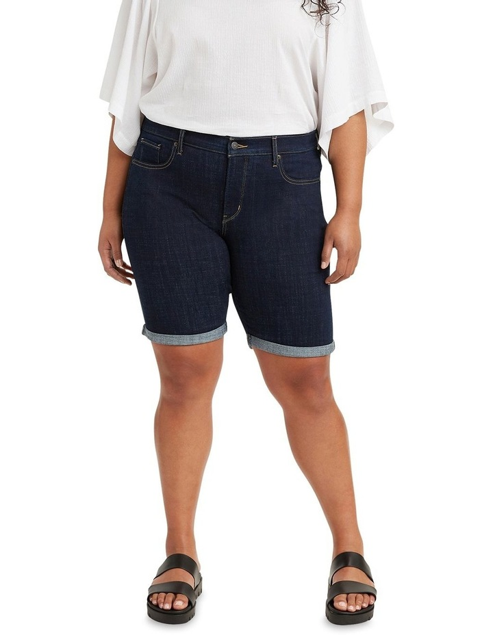 Curve Shaping Bermuda Jean Shorts image 1