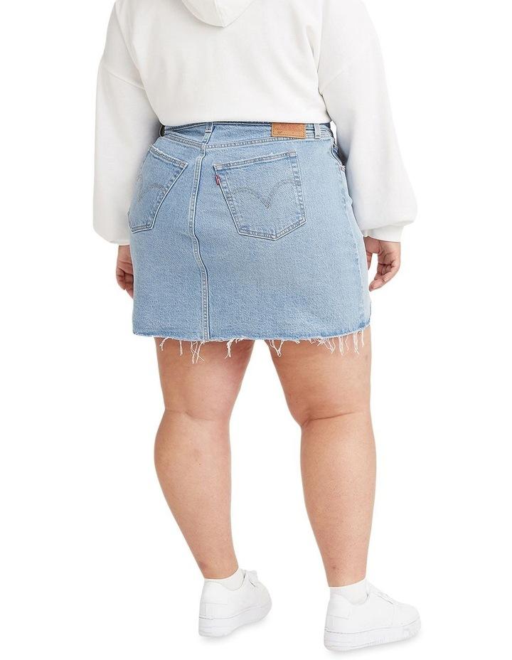Deconstructed Luxor Heat Mini Denim Skirt image 2