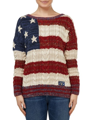 SuperdryAMERICANA CABLE KNIT 3a1cb45ca