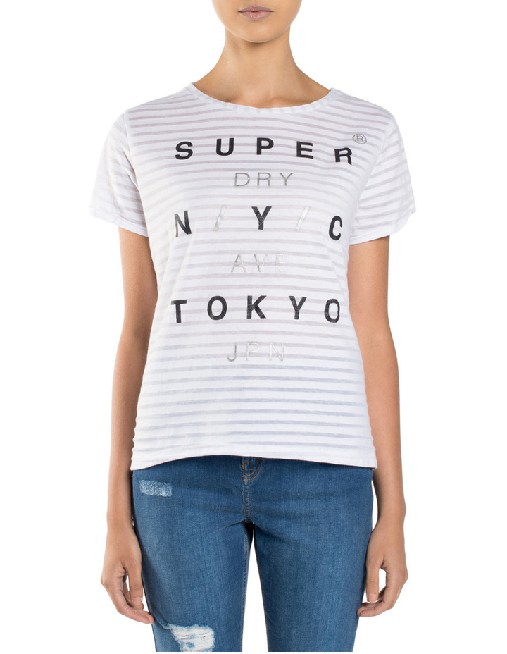 NYC Burnout Stripe BF Tee image 1