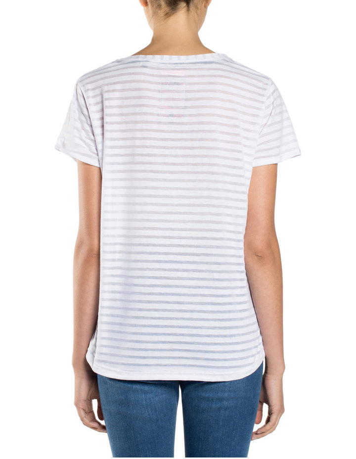 NYC Burnout Stripe BF Tee image 2