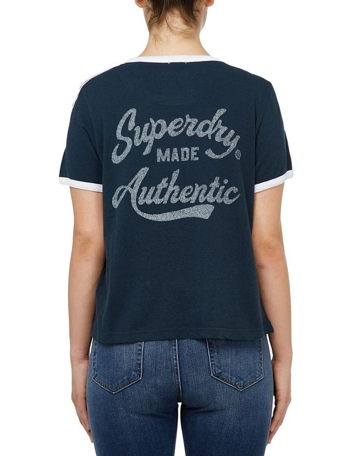 Heritage Embroidery Ringer Boxy Tee image 1