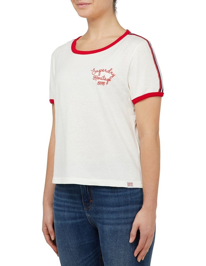 Heritage Embroidery Ringer Boxy Tee image 2
